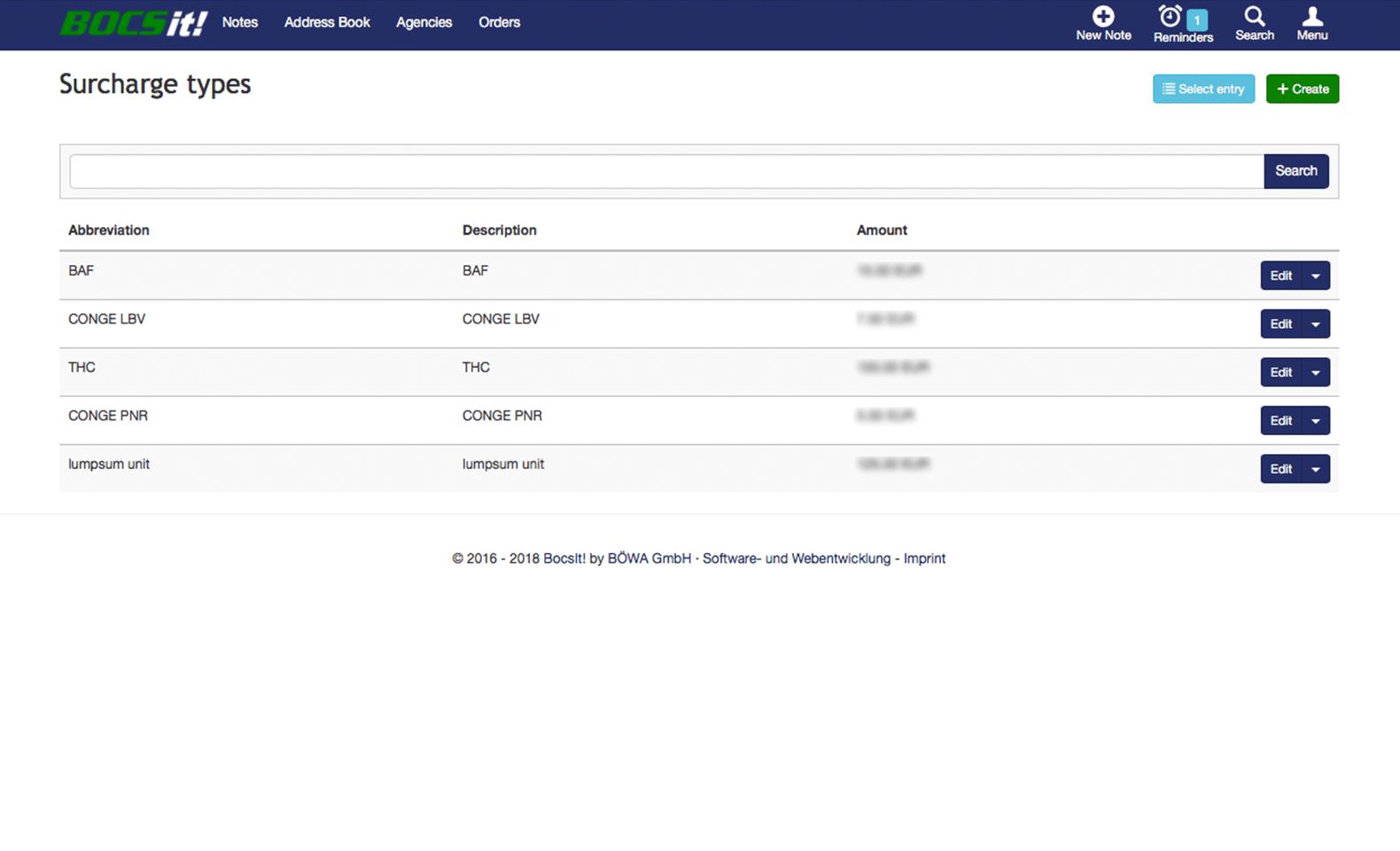 BOCS - CRM - Basisdatenverwaltung