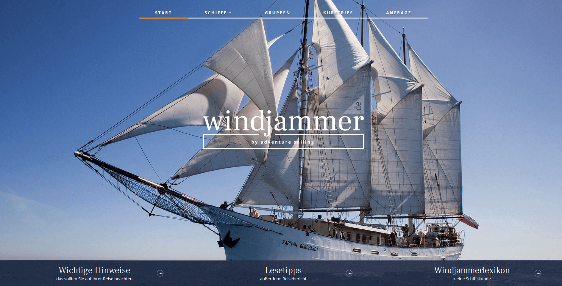 Windjammer.de by Adventure Sailing